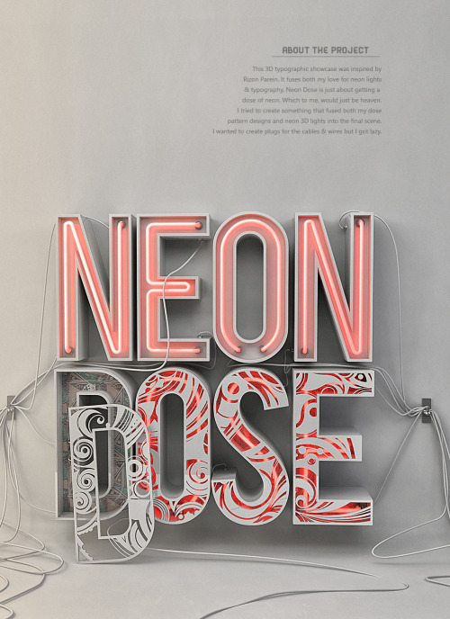 A little dose of neon by Katlego Phatlane