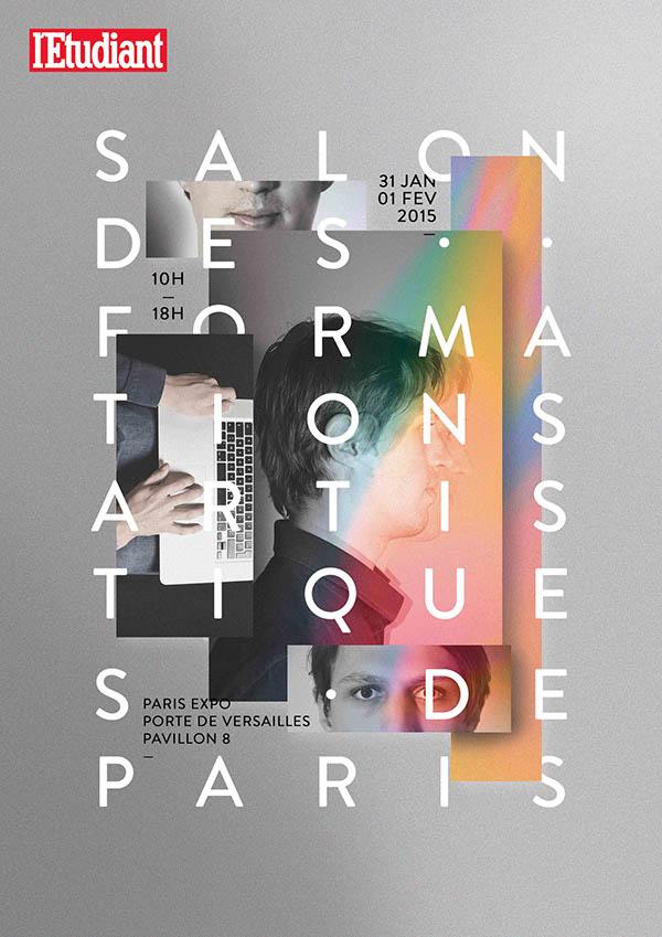 Affiche – Salon des formations artistiques de Paris.