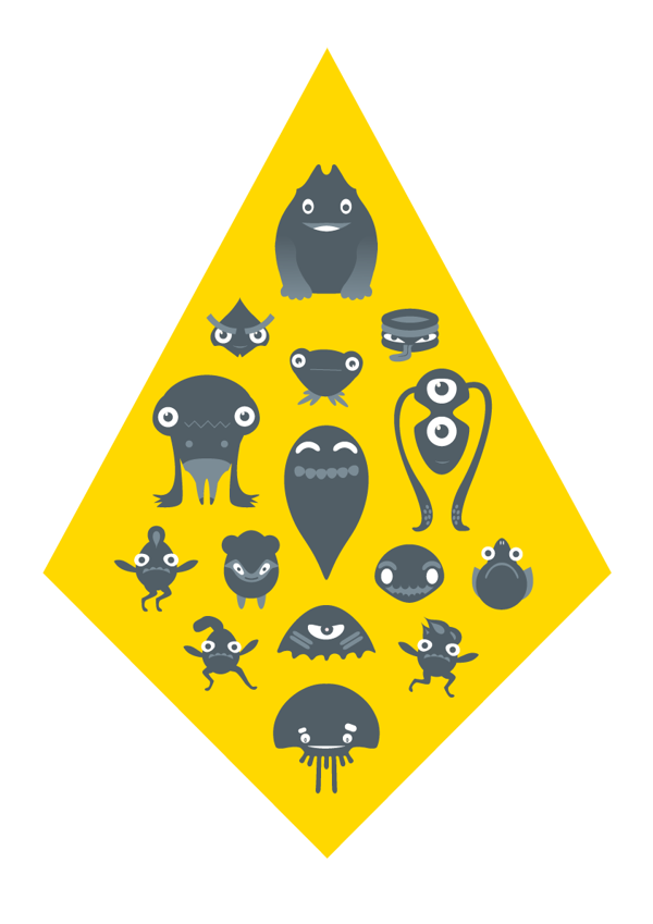 These creatures are part of a bigger monster family to promote public transport to youngsters in ...