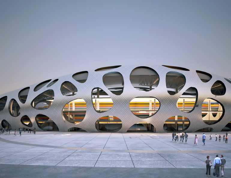 Borisov Football Stadium / OFIS Architects