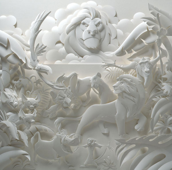 Embossed paper sculptures by Jeff Nishinaka
