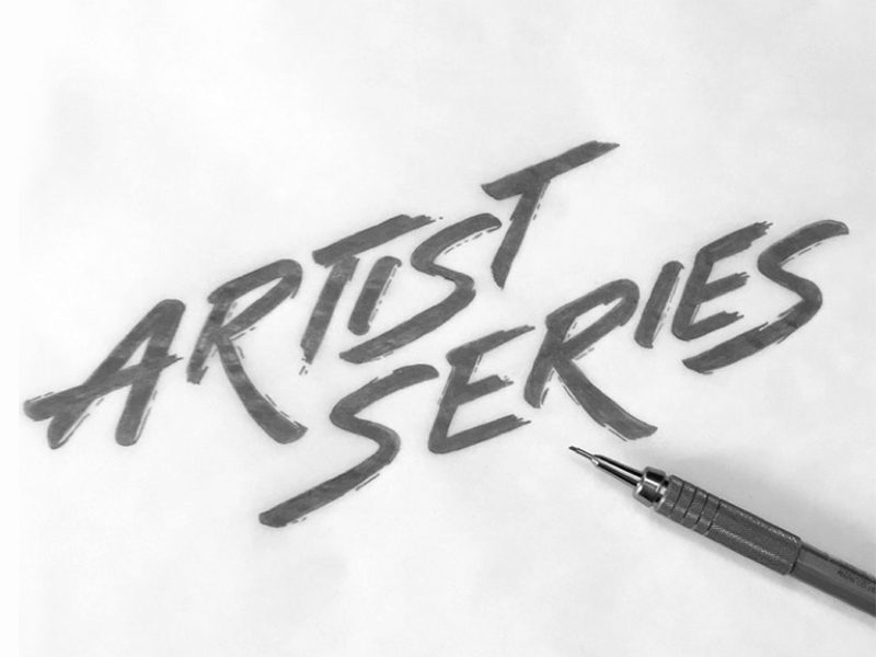 Artist Series hand drawn typography logo sketch by Jenna Bresnahan