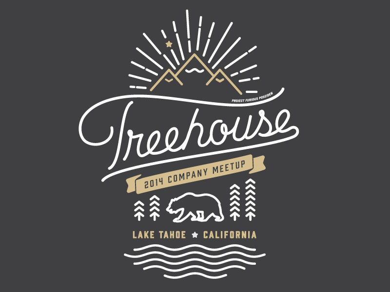 Treehouse Meetup Merch by Matt Spiel for Treehouse