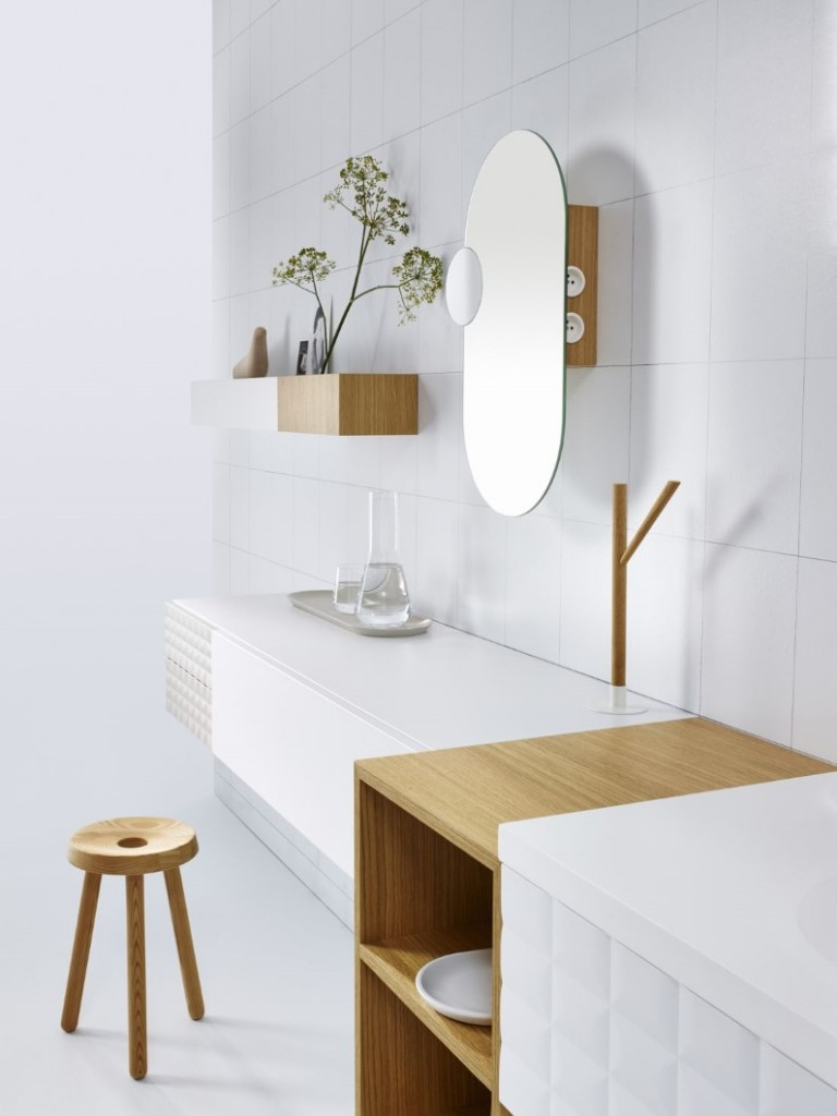 Modular cabinet system for bathroom space: Ingrid collection