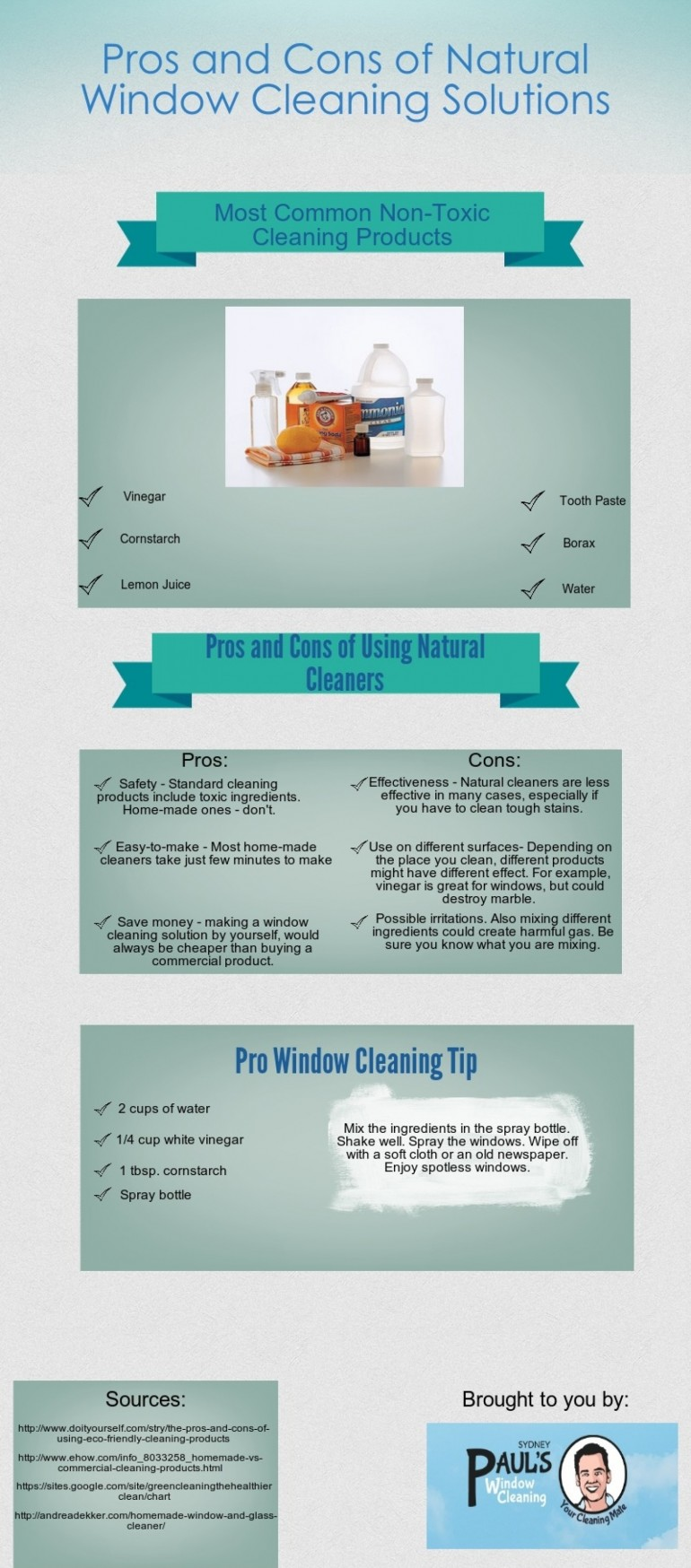This infographic will help you learn about the positive and negative sides of using green soluti ...