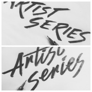 Beginning logotype sketches by Jenna Bresnahan