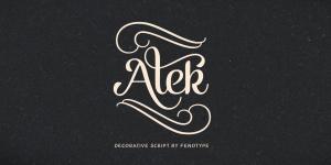 Alek Typeface by Emil Bertell