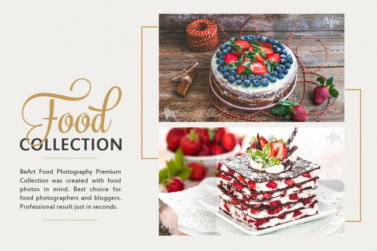 Food Collection: Lightroom Presets, Photoshop Actions and ACR Presets — BeArt Lightroom Presets