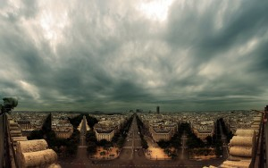 Panorama of Paris at Cloudy Day – Photography Wallpapers