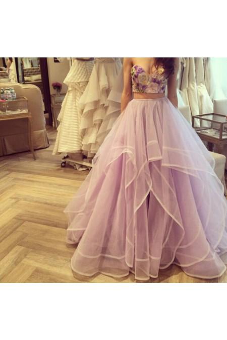 Shop Sweetheart Ball Gown Lavender Evening Dress NZ Online – Shopindress.co.nz