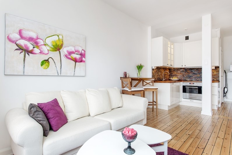 28 sqm studio in Stockholm with attractive interior design