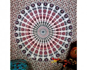 Ethnic Mandala Twin Tapestry Bedspread Queen