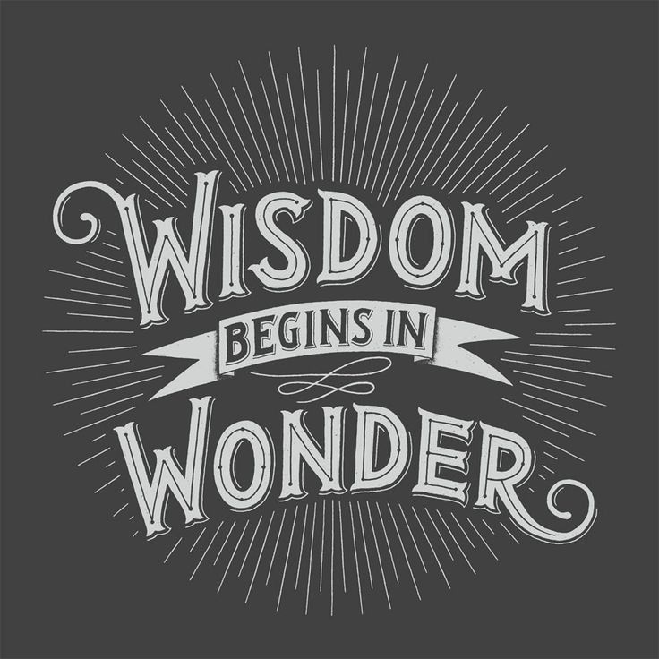 Wisdom begins in wonder' poster, by Rob Zangrillo.