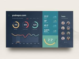Admin Dashboard UI – PSD Repo