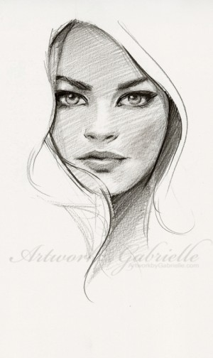 Artwork by Gabrielle, 25 min sketch from ref :) Just wanted to draw