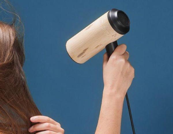 Bamboo hair dryer
