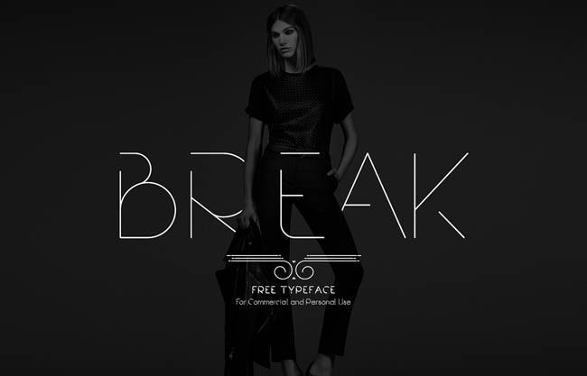 Break : Free Modern Font family
