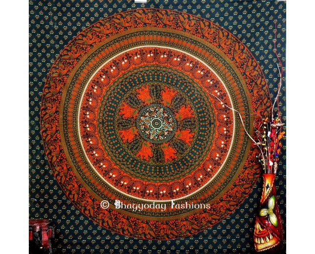 Green Psychedelic wall Tapestry for Home
