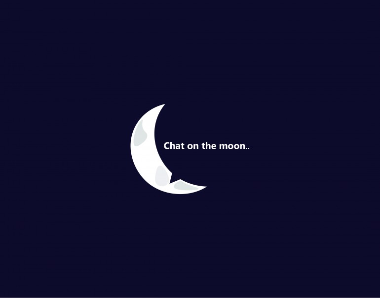chat on the moon ..
