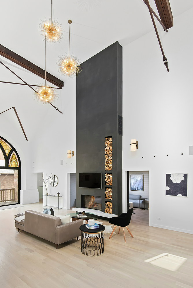 Church converted into a spacious family house