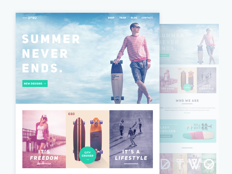 Dimension TWO Website Redesign – PSD Repo