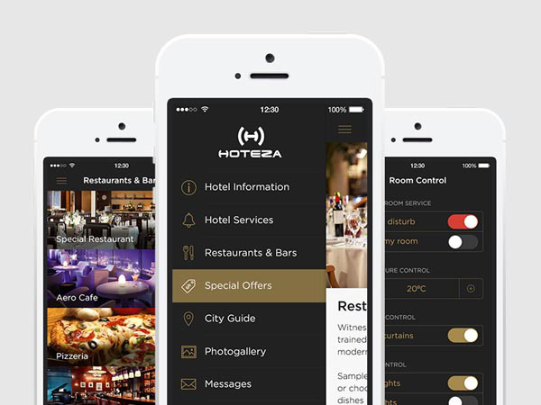 Hotel App UI Design for Inspiration