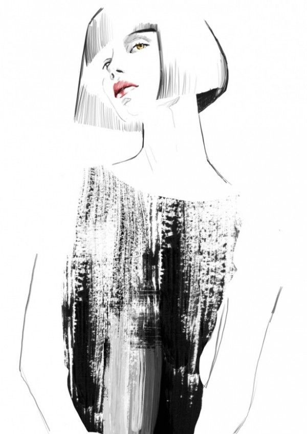 Fashion illustration – contemporary fashion drawing // Sandra Suy | fashion illustration | ...
