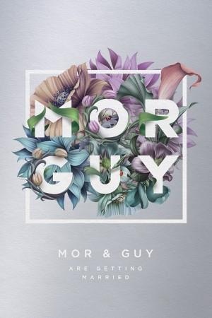 Mor & Guy wedding invitation