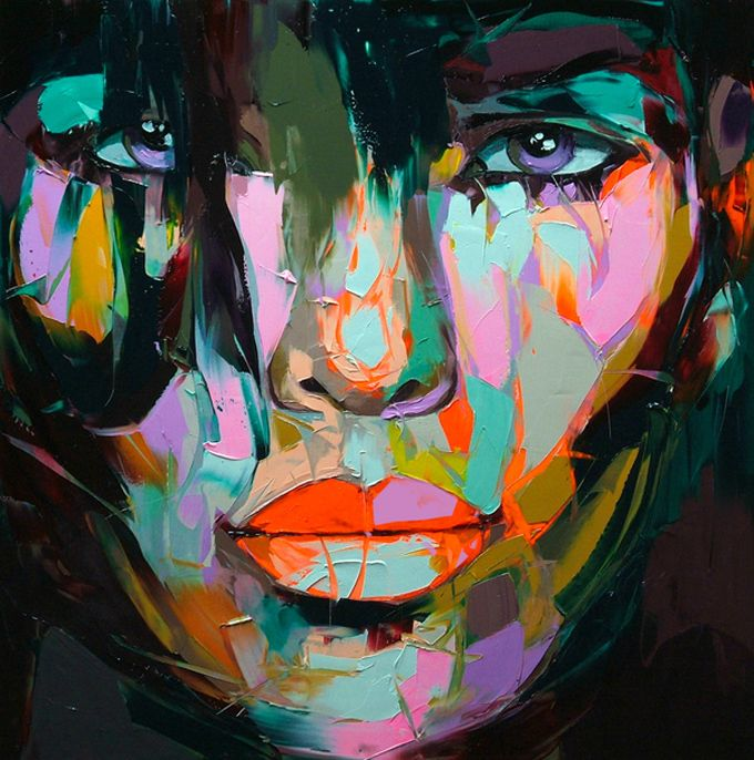 Françoise Nielly's massive, colorful portraits are delicious to look at. Even more wonderful – a ...