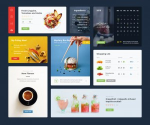 Free Food & Drink UI Kit (PSD and Sketch)