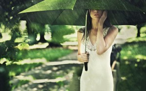 Girl Under Umbrella – Photography Wallpapers