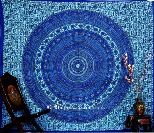 Bohemian Mandala Round Wall Tapestry