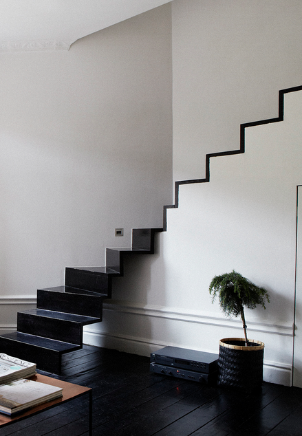 Loft with graphic stairs by Andreas Martin-Löf – emmas designblogg