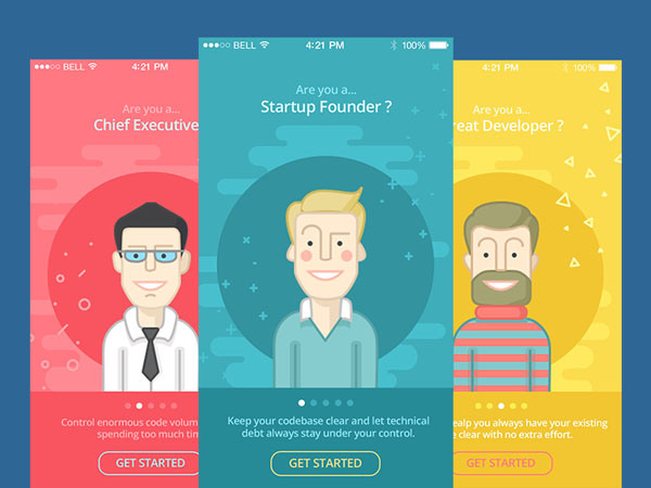 Tutorial App Screens