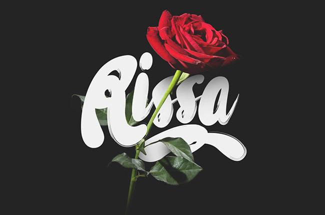 Rissa Free Beautiful Hand-drawn Typeface