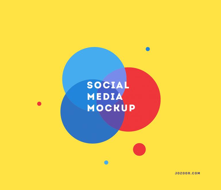 """free flat """" social media mockups """" https://www.behance.net/gallery/28437741/Social- ..."""