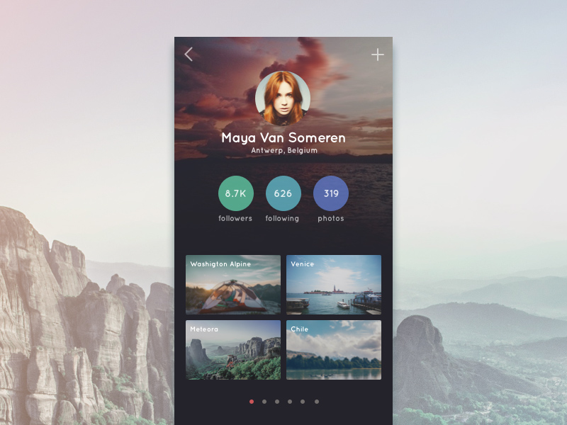 Travel App Profile – PSD Repo