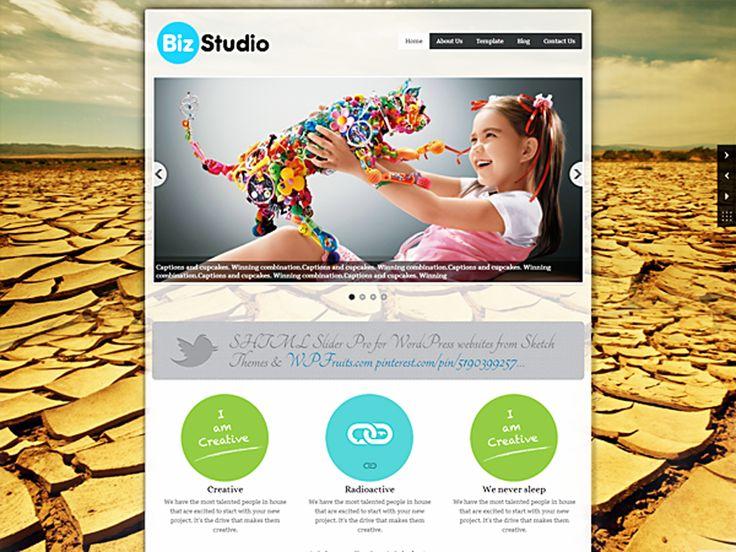 WordPress › BizStudio Lite « Free WordPress Themes | Free WordPress Themes | Pinterest