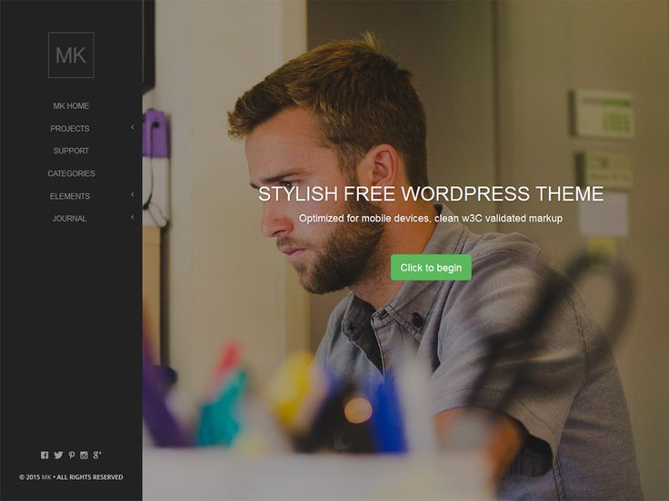 WordPress › Mk « Free WordPress Themes | Free WordPress Themes | Pinterest