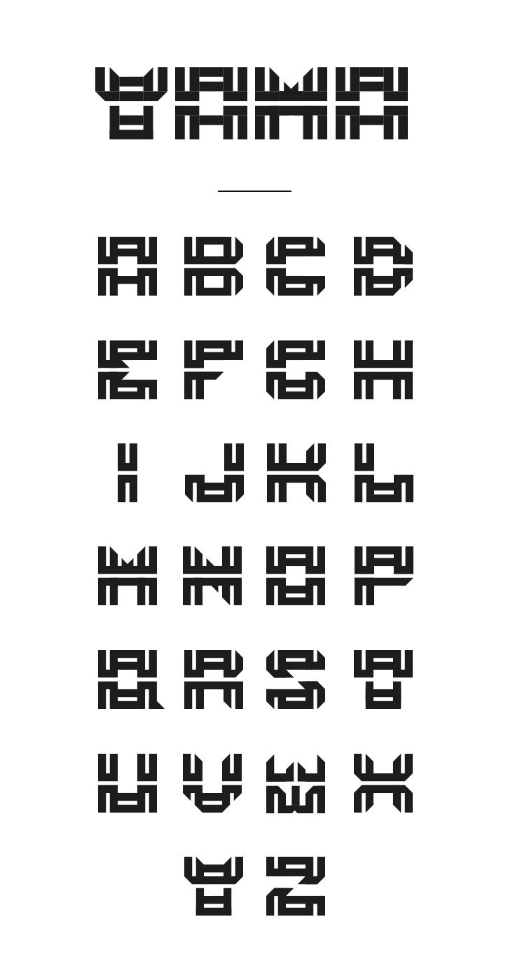 https://www.behance.net/gallery/29510255/YAMA-Typographie