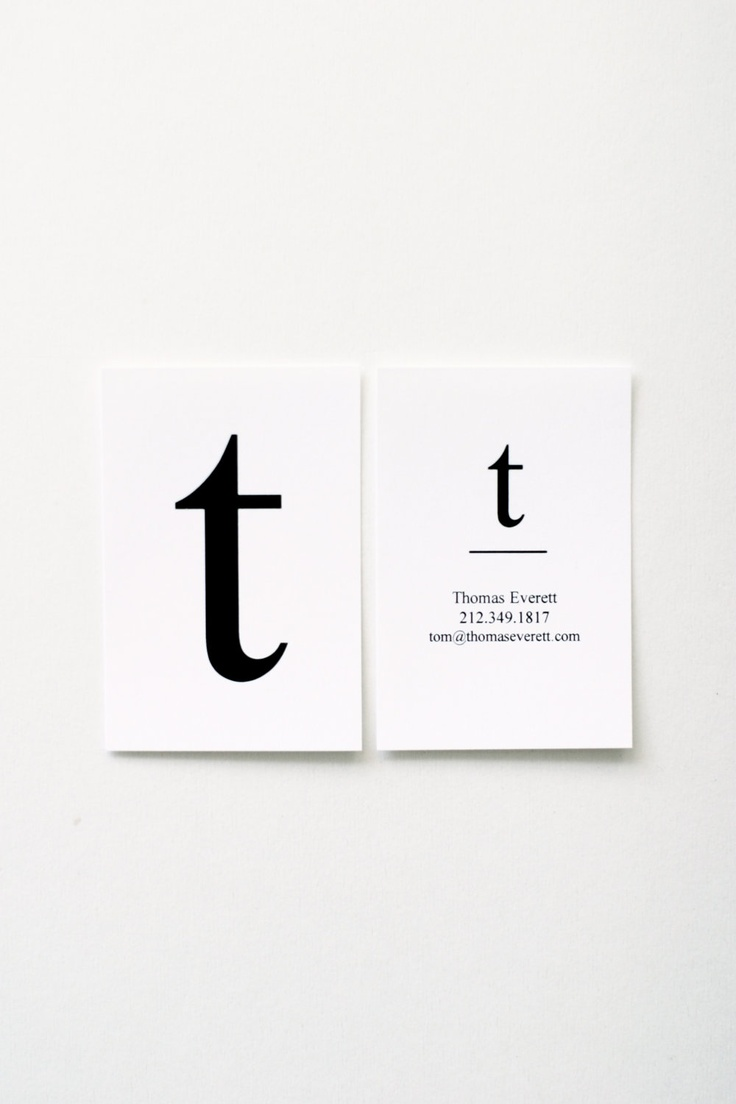Thomas Letterpress Business Card