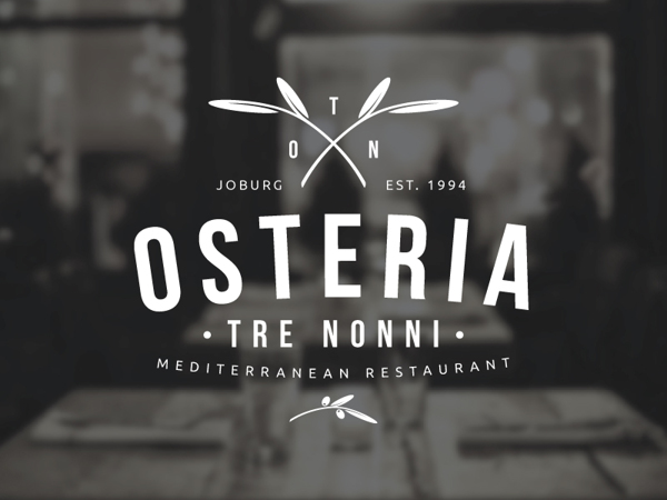 Osteria Tre Nonni – Logo Design by Angus Ewing