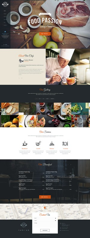 The Gourmet – Food WP Skin & Theme