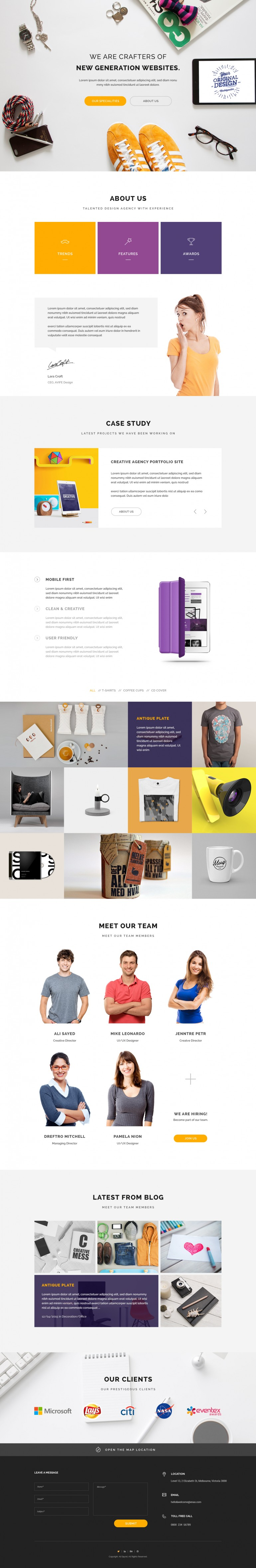 Home Page – Web Design Agency