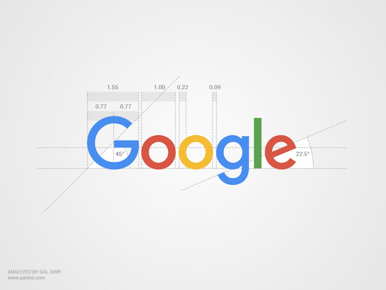 Google's New Logo Analyzed by Gal Shir