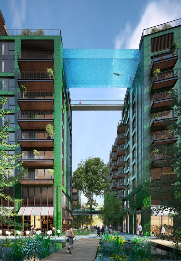 Embassy Gardens Sky Pool – Suspended Glass Swimming Pool