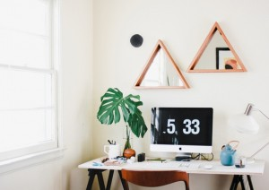 A light and bright desk area