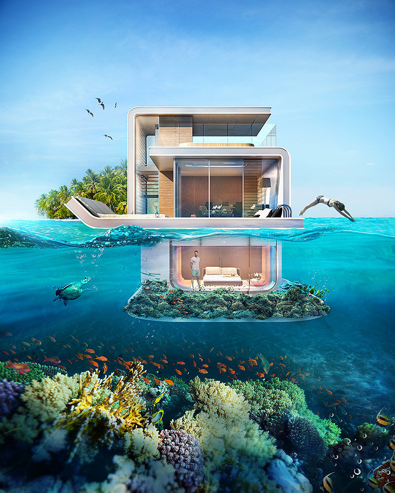 Live Underwater in The Floating Seahorse Luxury Houseboats
