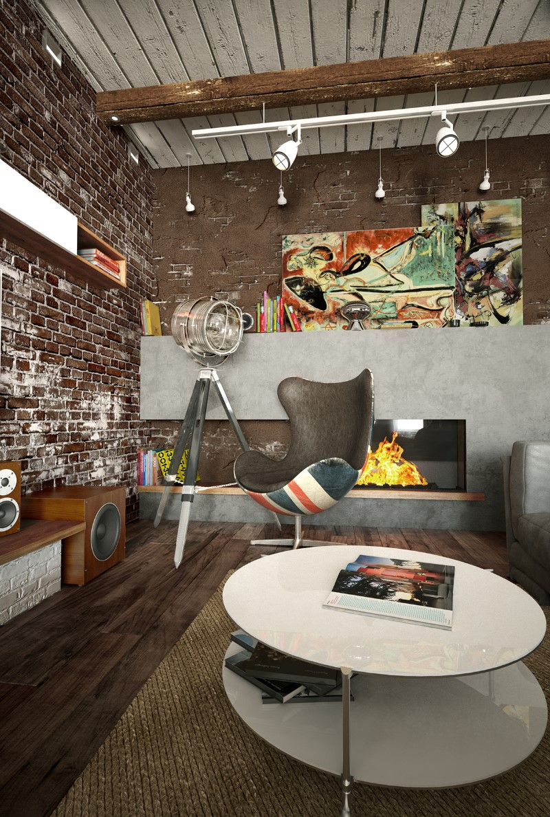 Loft project in Krasnodar by Galina Lavrishcheva