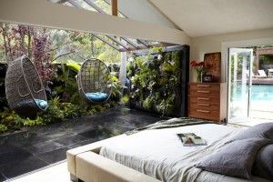 Outdoor room for a private mid-century residence